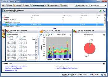 实时 NetFlow 显示使用最多的界面